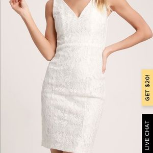 Lulu's Dresses - White lace LuLus Dress!